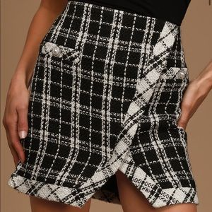Lulu's tweed mini skirt